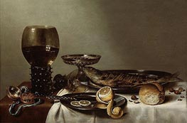 Claesz Heda   Still Life with a Roemer and Watch, 1629   Giclée Canvas Print