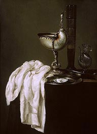 Claesz Heda   Still Life with Nautilus Cup and Oyster, 1640   Giclée Canvas Print