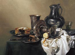 Claesz Heda | Still Life with Meat Pie, 1633 | Giclée Canvas Print