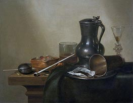 Claesz Heda | Tobacco Still Life, 1637 | Giclée Canvas Print