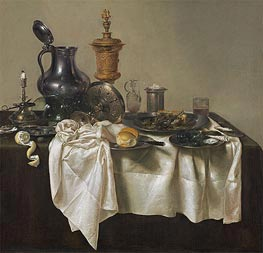 Claesz Heda | Banquet Piece with Mince Pie, 1635 | Giclée Canvas Print