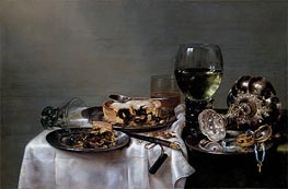 Claesz Heda | Breakfast Table with Blackberry Pie, 1631 | Giclée Canvas Print
