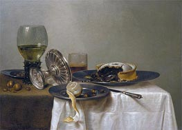 Claesz Heda | Still Life on a Table, 1638 | Giclée Canvas Print