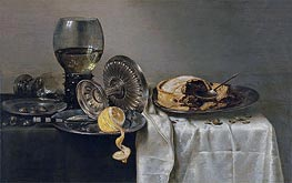 Still Life with Fruit Pie and various Objects, 1634 by Claesz Heda | Giclée Canvas Print