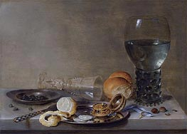 Still Life of a Roemer and a Facon de Venise, 1630 by Claesz Heda | Giclée Canvas Print