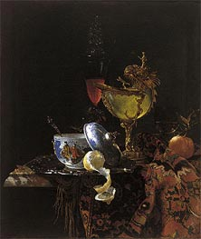 Willem Kalf | Still Life with Nautilus Cup, 1662 | Giclée Canvas Print