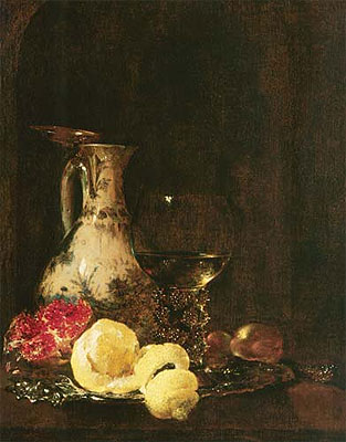 Still Life with Delft Jug, 1653 | Willem Kalf | Painting Reproduction