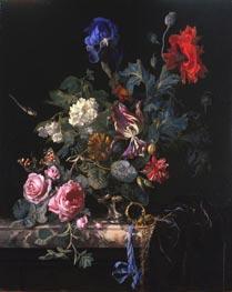 Willem van Aelst | Flowers in a Silver Vase, 1663 | Giclée Canvas Print