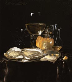 Willem van Aelst | Still Life with a Roemer and Dish of Oysters | Giclée Canvas Print