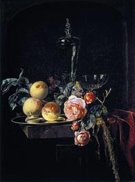Willem van Aelst | Roses and Peaches, 1659 | Giclée Canvas Print