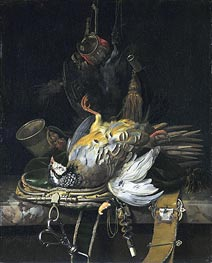Willem van Aelst | Still Life with Game, 1671 | Giclée Canvas Print