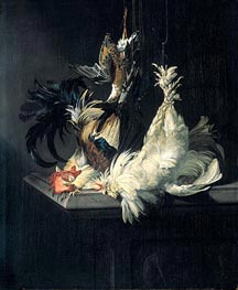 Willem van Aelst | Still Life with Poultry, 1658 | Giclée Canvas Print