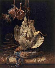 Willem van Aelst | Hunting Still Life with a Dead Bird, 1671 | Giclée Canvas Print