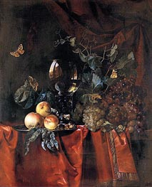 Willem van Aelst | Fruit and a Glass of Wine, 1659 | Giclée Canvas Print
