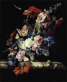 Willem van Aelst | A Vase of Flowers, 1663 | Giclée Canvas Print