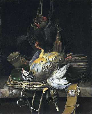 Still Life with Game, 1671 | Willem van Aelst | Painting Reproduction