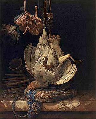 Hunting Still Life with a Dead Bird, 1671 | Willem van Aelst | Painting Reproduction