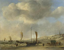 Willem van de Velde | The Shore at Scheveningen, c.1660 | Giclée Canvas Print