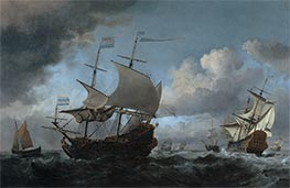 Willem van de Velde | The Dutch Fleet Assembling Before the Four Days Battle of 11-14 June 1666, 1670 | Giclée Canvas Print