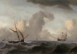 Willem van de Velde | An English Galliot at Sea Running before a Strong Wind, c.1690 | Giclée Canvas Print