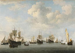Willem van de Velde | The Dutch Fleet in the Goeree Roads, c.1672/73 | Giclée Canvas Print