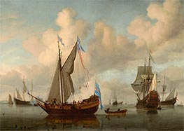 Willem van de Velde | The English Royal Yacht Mary about to Fire a Salute, 1660 | Giclée Canvas Print