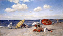 William Merritt Chase | At the Seaside | Giclée Canvas Print