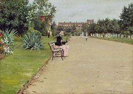 William Merritt Chase | A City Park | Giclée Canvas Print