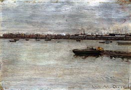 William Merritt Chase | East River | Giclée Canvas Print