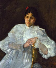 William Merritt Chase | Girl in White | Giclée Canvas Print