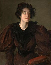 William Merritt Chase | Study of a Young Woman | Giclée Canvas Print