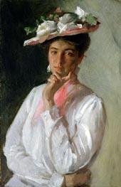 William Merritt Chase | Woman in White | Giclée Canvas Print