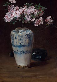 William Merritt Chase | Pink Azalea-Chinese Vase | Giclée Canvas Print