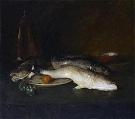 William Merritt Chase | Still Life: Fish | Giclée Canvas Print
