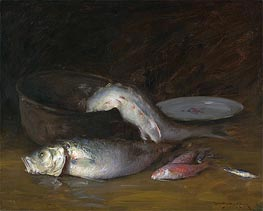 Still Life with Fish, c.1910 by William Merritt Chase | Giclée Canvas Print