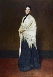 Lady with the White Shawl, 1893 by William Merritt Chase | Giclée Canvas Print
