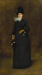 Ready for a Walk: Beatrice Clough Bachmann, c.1885 by William Merritt Chase | Giclée Canvas Print
