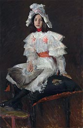 Young Girl in White (Alice Chase, the Artist's Daughter), undated by William Merritt Chase | Giclée Canvas Print