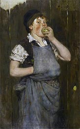 William Merritt Chase | Boy Eating Apple (The Apprentice) | Giclée Canvas Print
