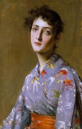 Girl in a Japanese Costume, c.1890 by William Merritt Chase | Giclée Canvas Print
