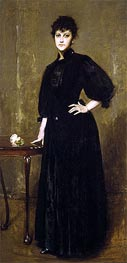 Lady in Black, 1888 by William Merritt Chase | Giclée Canvas Print