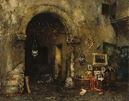 William Merritt Chase | The Antiquary Shop, 1879 | Giclée Canvas Print