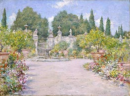 William Merritt Chase | An Italian Garden, c.1909 | Giclée Canvas Print