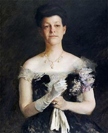 William Merritt Chase | Portrait of Lavinia Borden Cook, c.1905 | Giclée Canvas Print