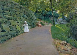 William Merritt Chase | In the Park (A By-path), c.1889 | Giclée Canvas Print