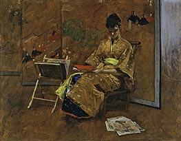 William Merritt Chase | The Kimono | Giclée Canvas Print
