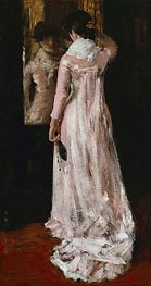 William Merritt Chase | I Think I am Ready Now (The Mirror, the Pink Dress) | Giclée Canvas Print