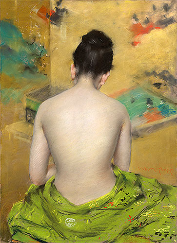 Study of Flesh Color and Gold, 1888 | William Merritt Chase | Painting Reproduction