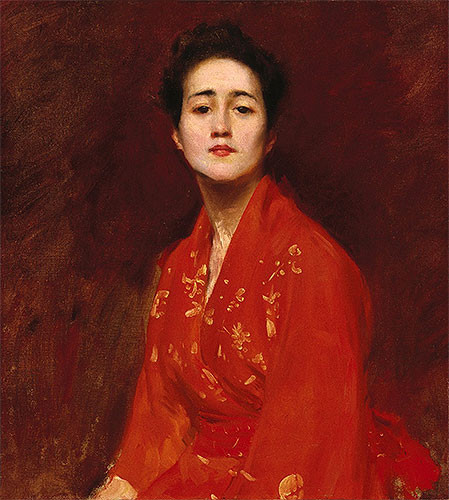 Girl in Japanese Dress, c.1895   William Merritt Chase   Painting Reproduction