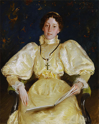 The Golden Lady, 1896 | William Merritt Chase | Painting Reproduction